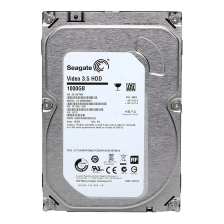 Disco rígido interno Seagate Video 3.5 HDD ST1000VM002 1TB