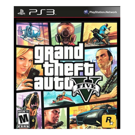 Grand Theft Auto V Standard Edition Digital PS3 Rockstar Games