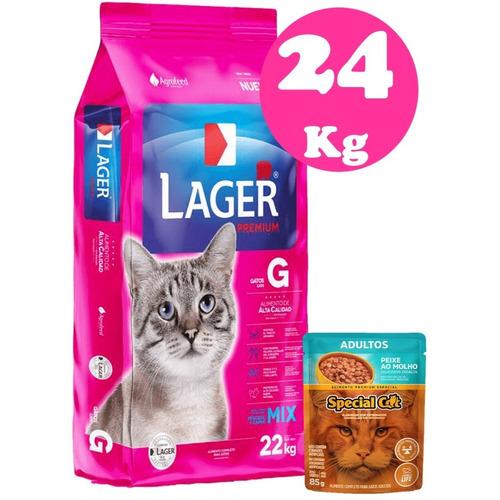 Lager Gato Adulto 22 Kg + Regalo