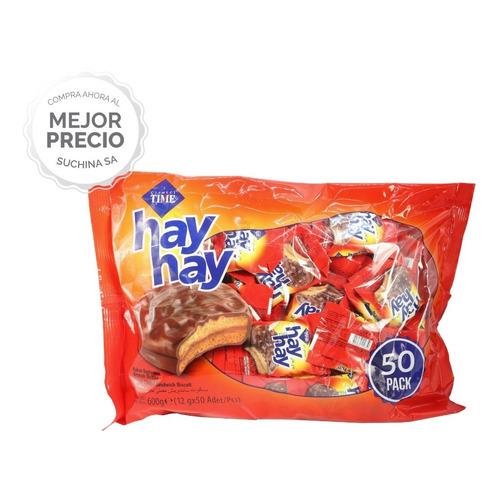 Alfajor Hay Hay X50un. Chocolate + Dulce De Leche Suchina Sa