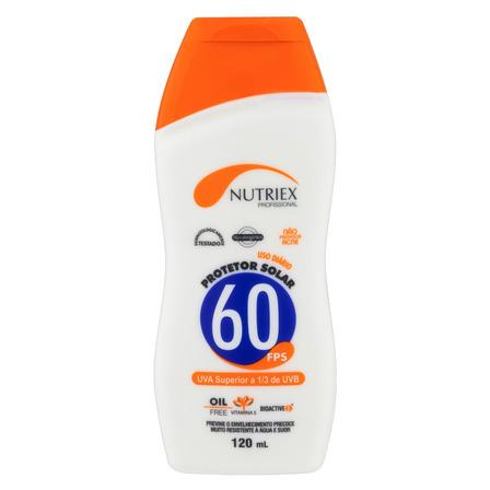Protetor Solar FPS 60 Nutriex Profissional Frasco 120ml