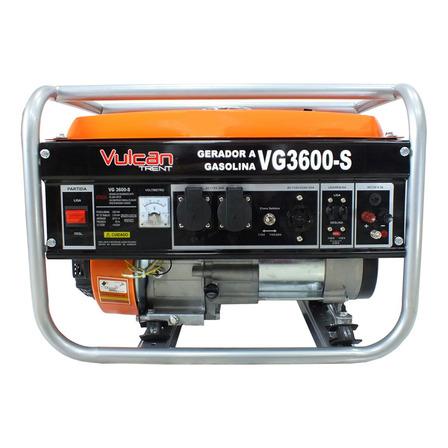 Gerador portátil Vulcan VG3600S 2900W bifásico com tecnologia AVR 127V/220V