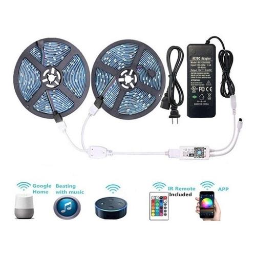 Tira De Luces Led Rgb 5050 10 Metros  Wifi Ip65 Smart Alexa