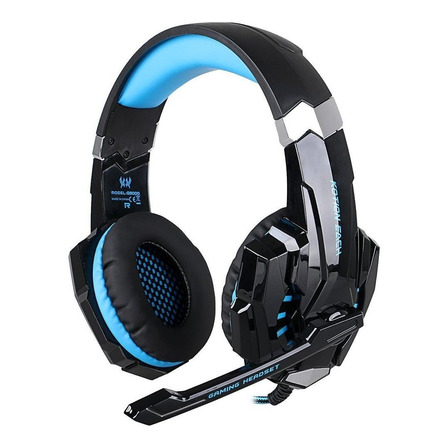 Auriculares gamer Kotion Each G9000 black y blue