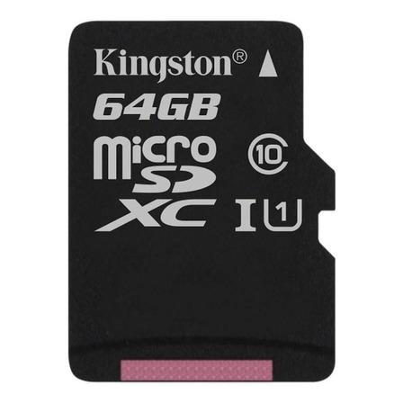 Tarjeta de memoria Kingston SDCS Canvas Select con adaptador SD 64GB