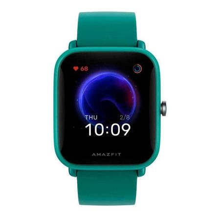 """Smartwatch Amazfit Basic Bip U Pro 1.43"""" caixa de  policarbonato  green pulseira  green de  borracha de silicone A2008"""