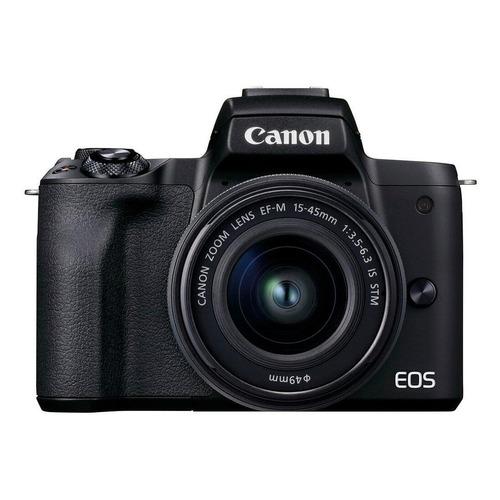Canon EOS Kit M50 Mark II + lente EF-M 15-45mm f/3.5-6.3 IS STM sin espejo color  negro