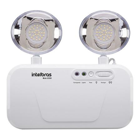 Luminária de emergência Intelbras BLA 2200 LED com bateria recarregável 3 W 100V/240V branca
