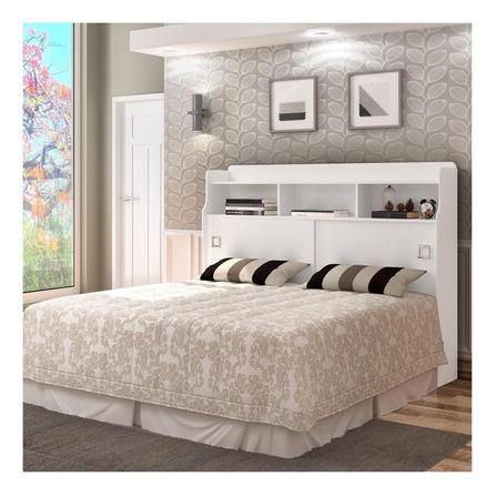 Cabeceira de cama Cambel Móveis Jéssica Casal 145cm x 123.5cm branca