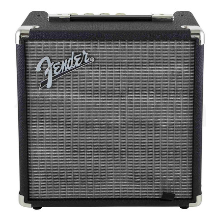 Amplificador Fender Rumble Series 15 Transistor para bajo de 15W color negro/plata 120V