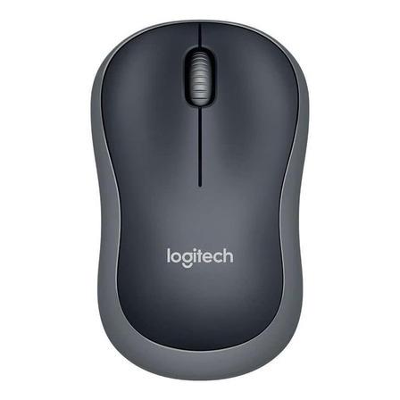 Mouse sem fio Logitech M185 preto