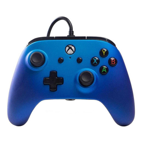 Control Joystick Acco Brands Powera Enhanced Wired Controller For Xbox One Sapphire Fade
