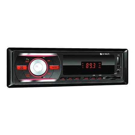 Som automotivo E-Tech Imports Premium BT com USB, bluetooth e leitor de cartão SD