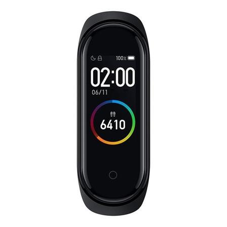 """Xiaomi Mi Smart Band 4 0.95"""" caja de  policarbonato  black malla  black de  elastómero termoplástico y aleación de aluminio XMSH07HM"""