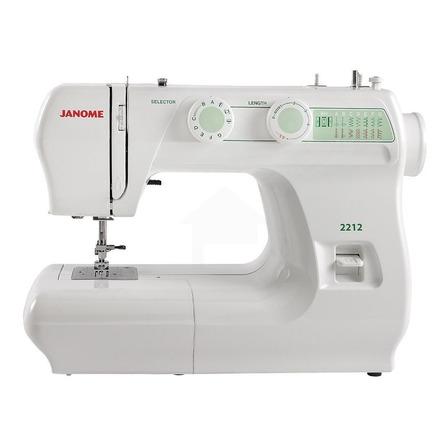 Máquina de coser recta Janome 2212 portable blanca 110V