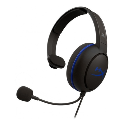 Auricular gamer HyperX Cloud Chat negro y azul