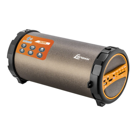 Caixa de som Lenoxx BT530 portátil com bluetooth preta/laranja 110V/220V