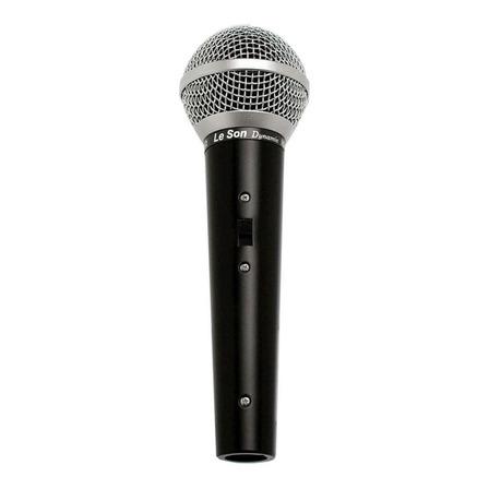 Microfone Le Son LS-50 dinâmico  unidirecional e cardióide preto