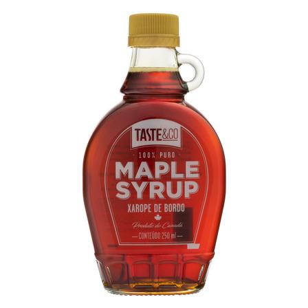 Xarope de Bordo Taste&Co Maple Syrup Vidro 250ml