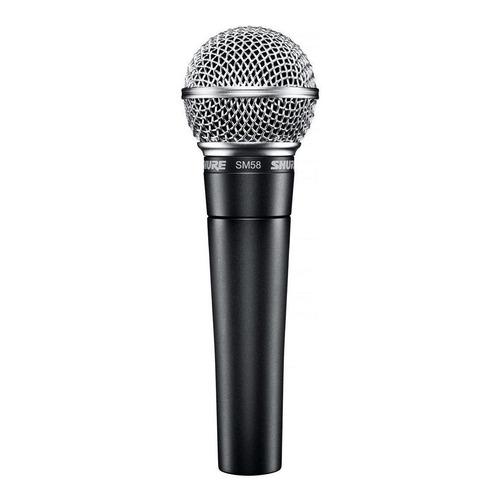 Micrófono Shure SM SM58-LC dinámico  cardioide gris oscuro