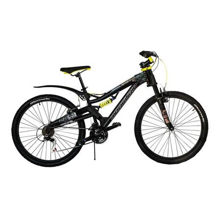 Mountain bike Mercurio Doble Suspensión Kaizer DH R26  2020 R26 21v frenos v-brakes color negro/amarillo