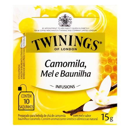 Chá Twinings camomila, mel e baunilha em sachê 15g 10 u