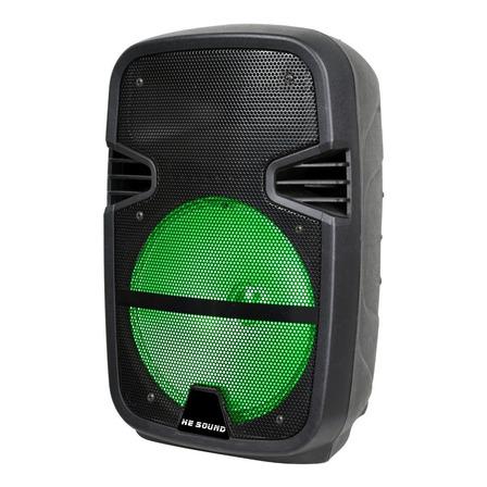 Parlante He-Sound HE-09P portátil con bluetooth  negro