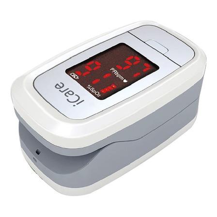 Oxímetro de pulso para dedo iCare CMS50DL1 blanco/gris
