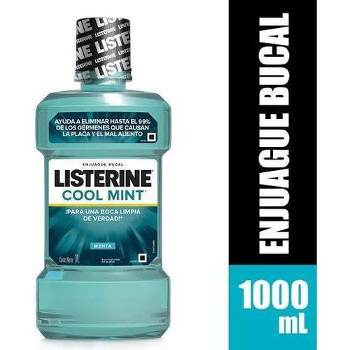 Enjuague Listerine Coolmint 6 X1litro.