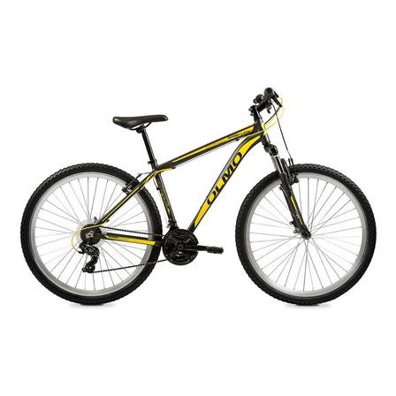 """Mountain bike Olmo Wish 290 R29 18"""" 21v frenos de disco mecánico cambios Shimano Tourney TZ31 color gris/amarillo"""