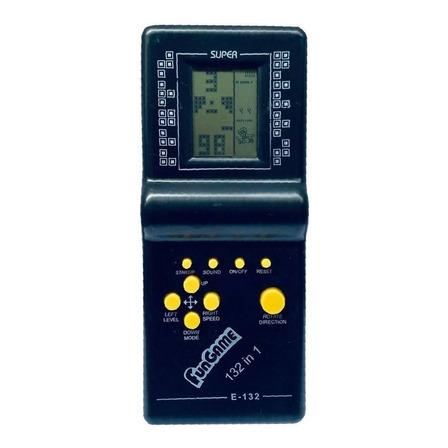Console Fun Game 132 in 1 cor  preto
