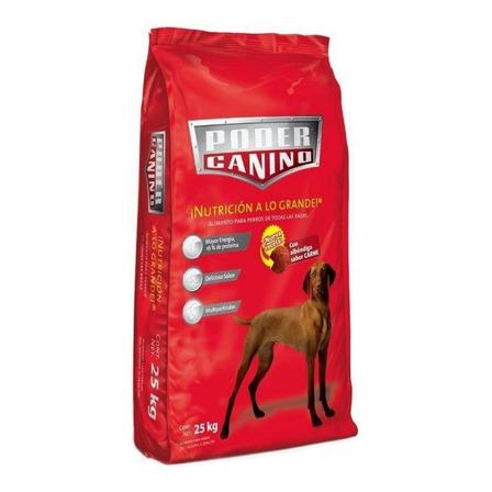 Alimento Poder Canino para perro todos los tamaños sabor carne en bolsa de 25kg