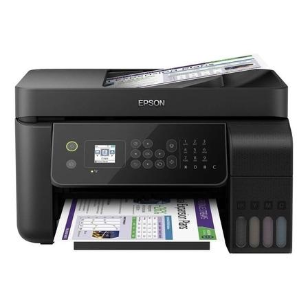 Impresora a color multifunción Epson EcoTank L5190 con wifi negra 110V