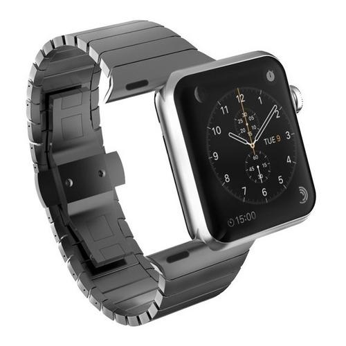 Malla De Reloj Acero Metal P/ Apple Watch Se Serie 6 42mm 44