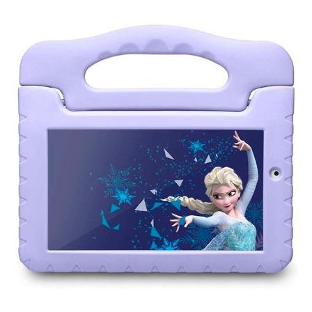 "Tablet com capa Multilaser Disney Frozen Plus 7"" 16GB azul-claro com memória RAM 8GB"