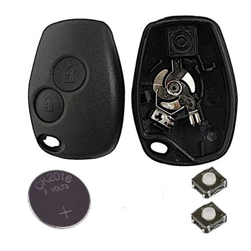 Kit Llave Carcasa Clio Mio Sandero Duster + Pila +pulsadores