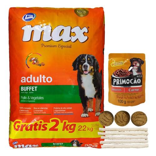 Comida Perro Adulto Max Buffet 22 Kg + Regalo + Envío Gratis