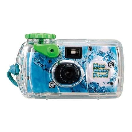 Câmera descartável Fujifilm QuickSnap Marine azul-celeste/verde