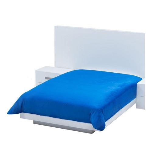 Cobertor Colchas Concord Cobertor ultrasuave Matrimonial liso/Azul