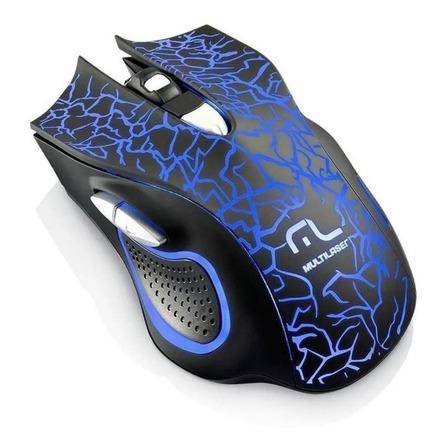 Mouse para jogo Multilaser  MO250 preto