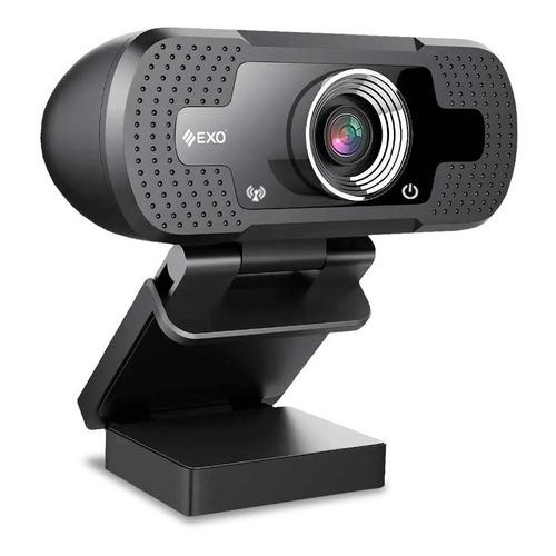 Cámara Webcam Exo Hd 1080p 2 Micrófono Stream Zoom 120°
