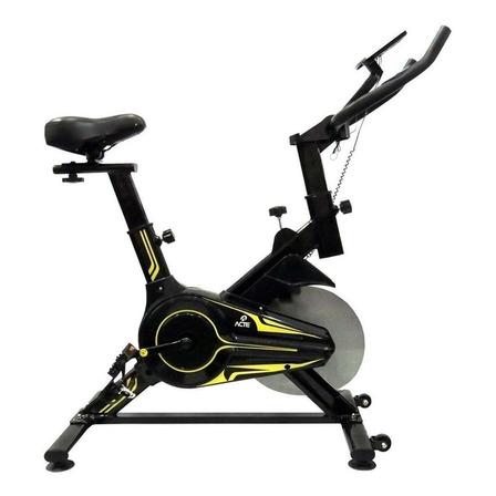 Bicicleta ergométrica Acte Sports E16 para spinning preta e amarela