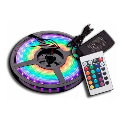 Tira Luces Led 5050 Rgb, Kit Completo,control Y Fuente