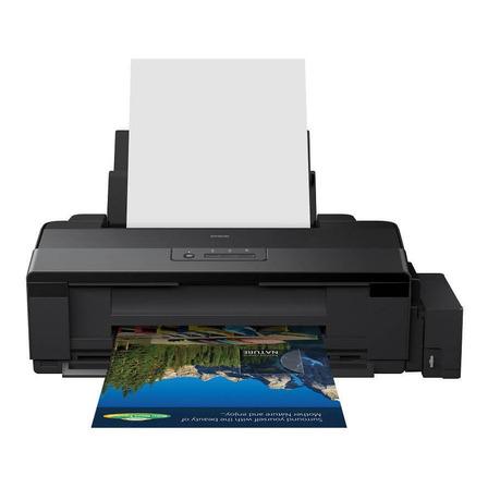 Impressora a cor Epson EcoTank L1800 preta 110V