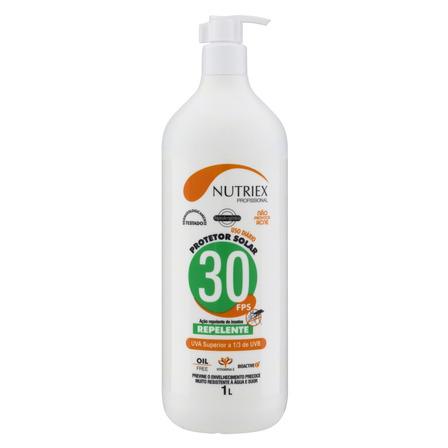 Protetor solar Nutriex Profissional Ação Repelente  FPS30 1l
