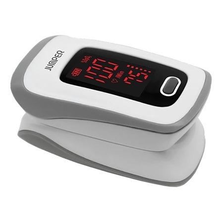Oxímetro de pulso para dedo Jumper JPD-500E (LED) blanco/gris