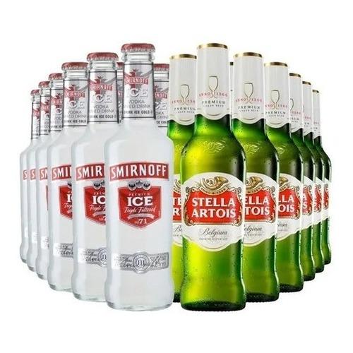 Promo 24 Vodka Smirnoff + 24 Cervezas Stella Artois