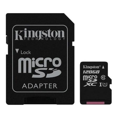 Cartão de memória Kingston SDCX10 com adaptador SD 128GB