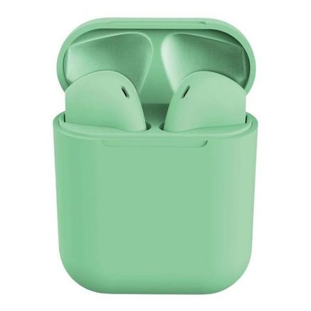 Fone de ouvido sem fio i12 TWS verde