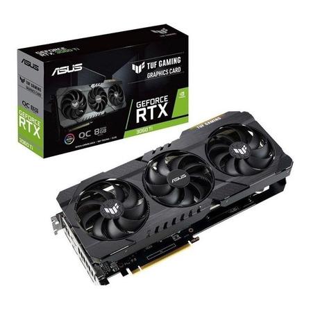Placa de vídeo Nvidia Asus  TUF Gaming GeForce RTX 30 Series RTX 3060 Ti TUF-RTX3060TI-O8G-GAMING OC Edition 8GB